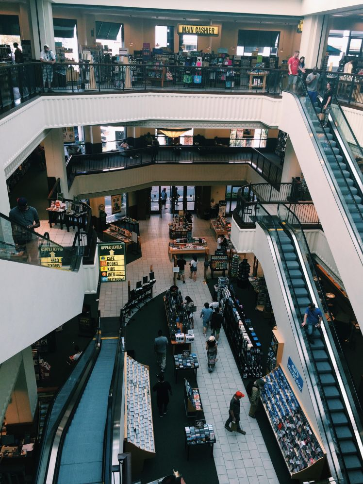 A 3-story Barnes and Nobles.... (Heaven.)